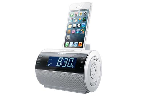 音楽で目覚めてiPhoneの充電もできるiPod/iPhone用ドックスピーカー