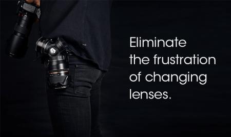 4つのレンズを持ち運んでその場で即交換できるTriLens lens holderが素晴らしい