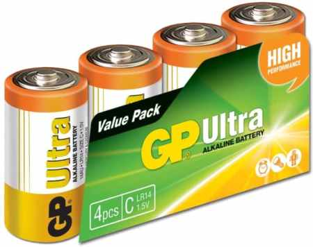 GP Batteries Ultra Alkaline C batteries