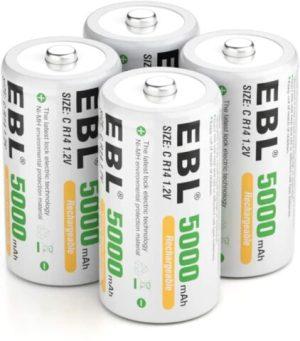 EBL C Rechargeable Batteries