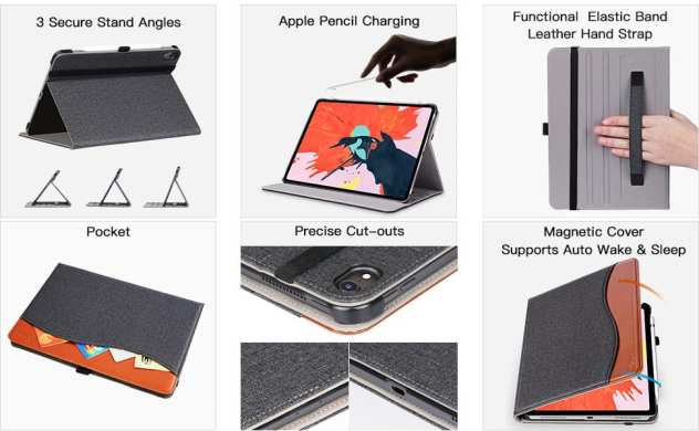 iPad Pro 12.9 inch wallet case/cover
