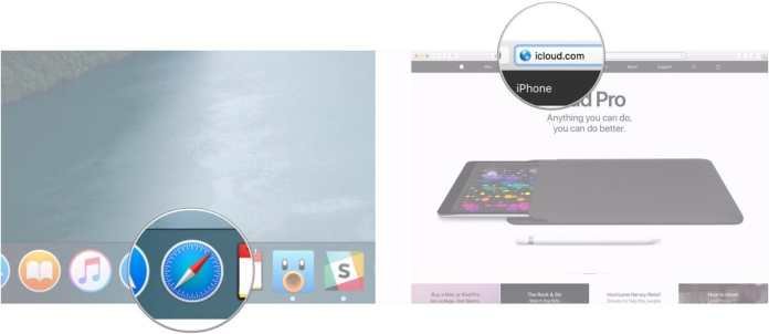 access iCloud.com from any web browser