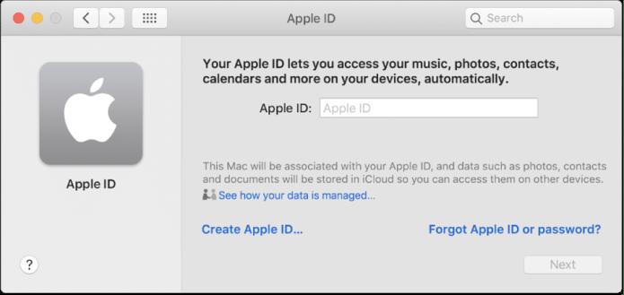 create an iCloud account on MAC