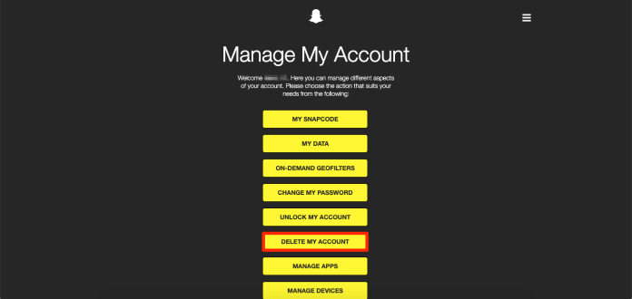 permanently delete snapchat/deactivate snapchat account