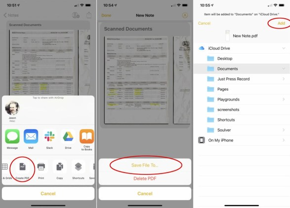 Scanning documents in iPhone and iPad