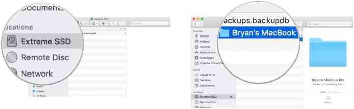 View Time Machine backups from another Mac