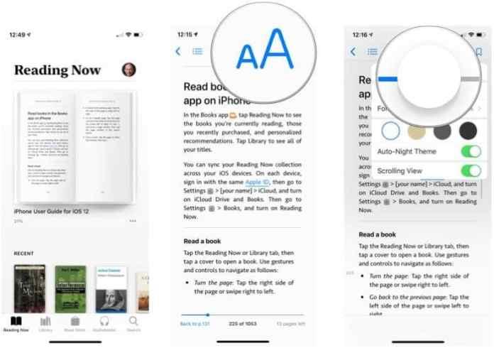 control brightness - customize Apple Books