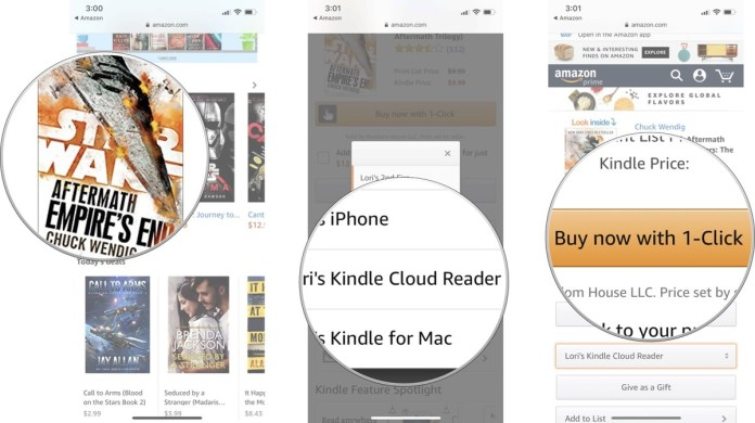 purchase books with Kindle on Amazon