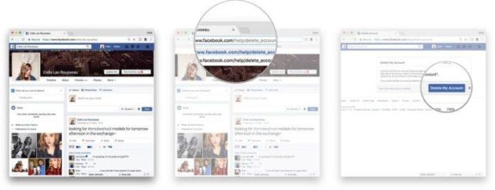 permanent delete facebook account