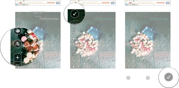 add watermarks to photos on eZy Watermark lite