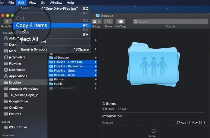 move files from dropbox to iCloud drive on mac