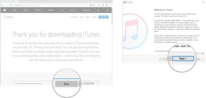 download iTunes on Windows10