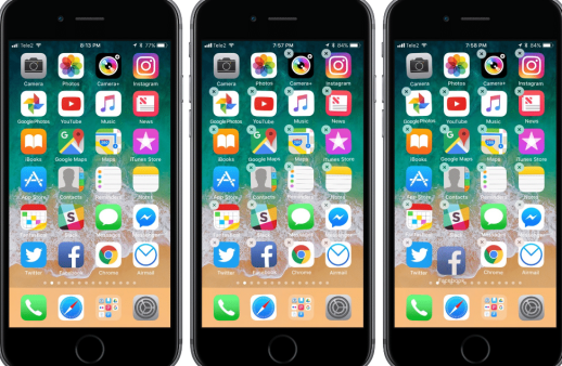 move apps on iPhone