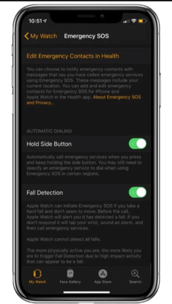 Call SOS Apple Watch