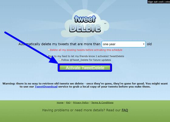 How to delete your Twitter history with TweetDelete?