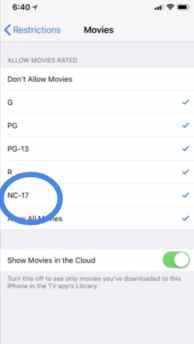 Use and set Parental Controls on iPhone