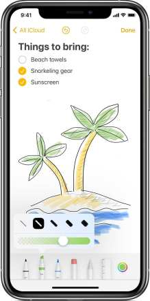 Sketch in Notes for iPhone and iPad