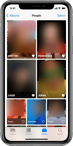 Add favourite People or Faces to the Photos app