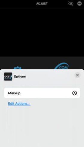Markup editor on iPhone