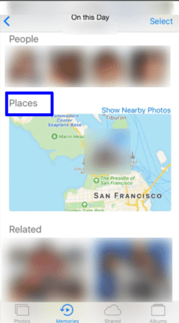 See where your memories took place on the map