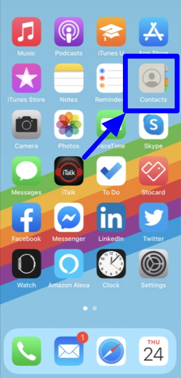 Use Contacts on iPhone and iPad