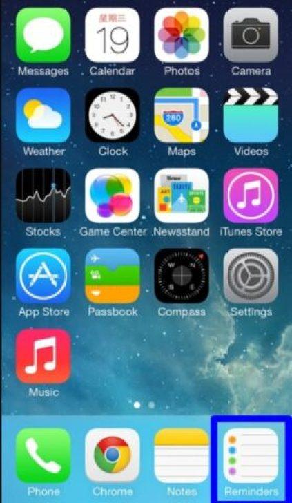 create tasks in the Reminders app