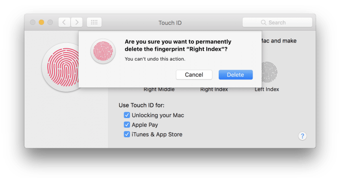Touch ID on MacBook Air./MacBook Pro
