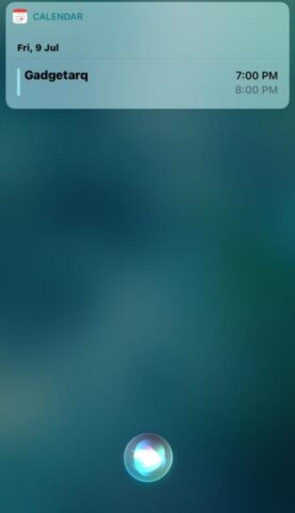 Use Calendar with Siri