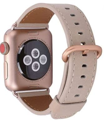 JSGJMY Leather Band Compatible with Apple Watch