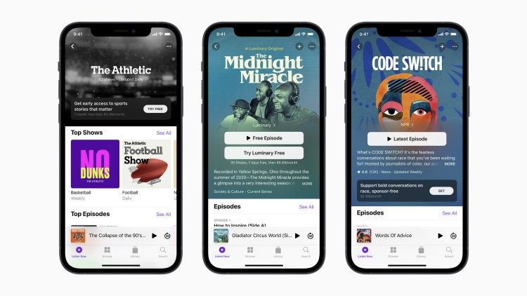 Apple Introduce Apple Podcasts Subscription for Podcast Listeners