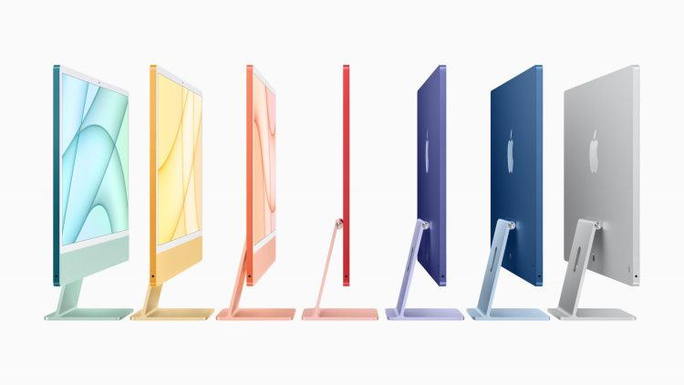 Apple Launches New 24-inch iMac with M1 Processor and All-New Design with Choice of Different Colors