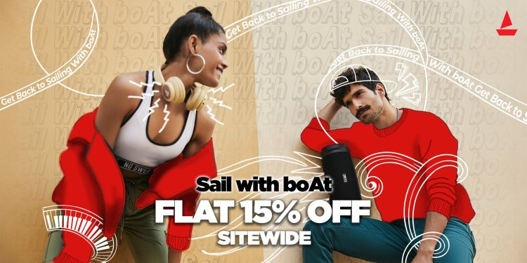 Get 15% OFF on boAt products