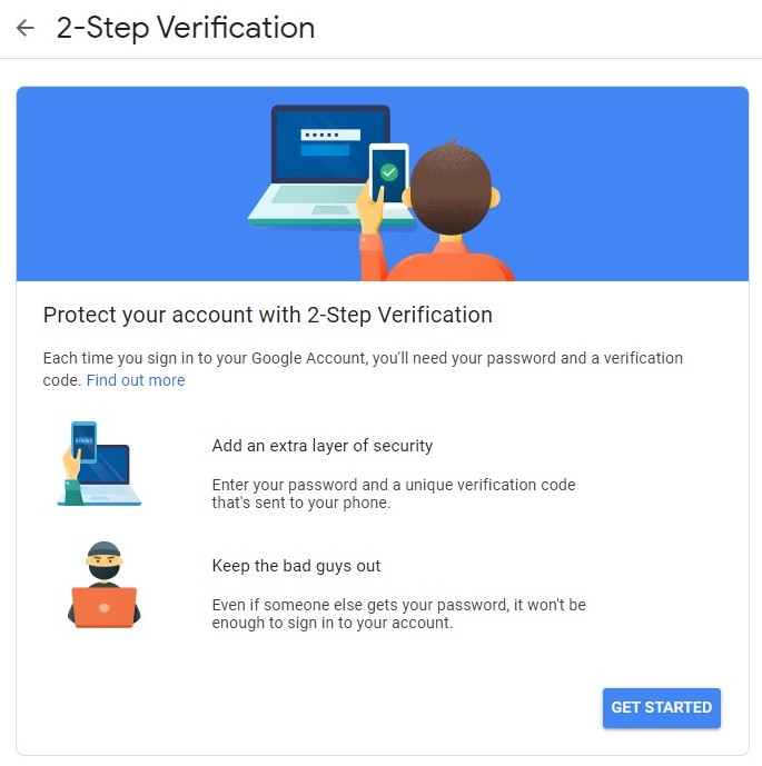 Google Share How to Protect Your Password By Adding Extra Security Levels