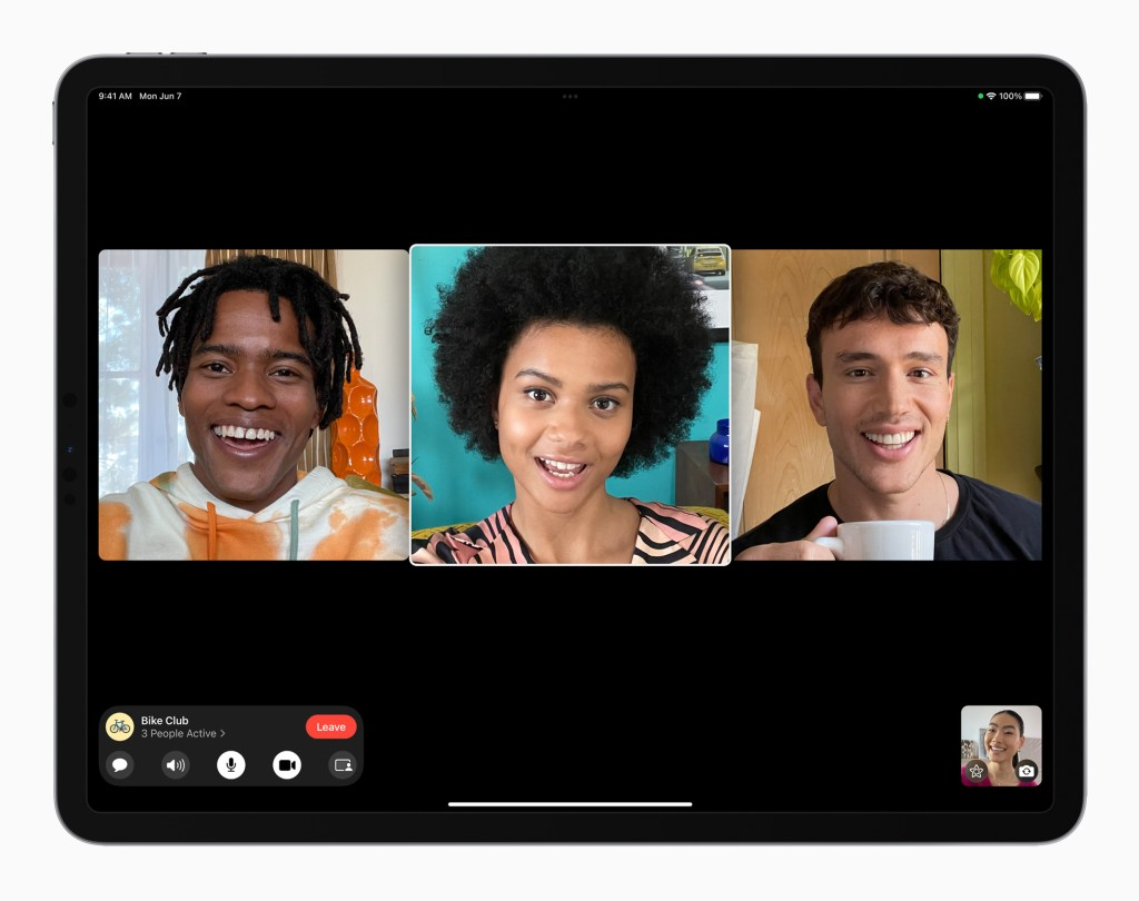 Apple iPadPro iPadOS15 FaceTime groupfacetime 4person 060721