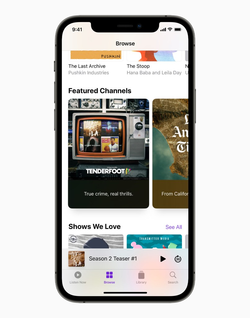 Apple iPhone12Pro Browse Featured Channels 061521