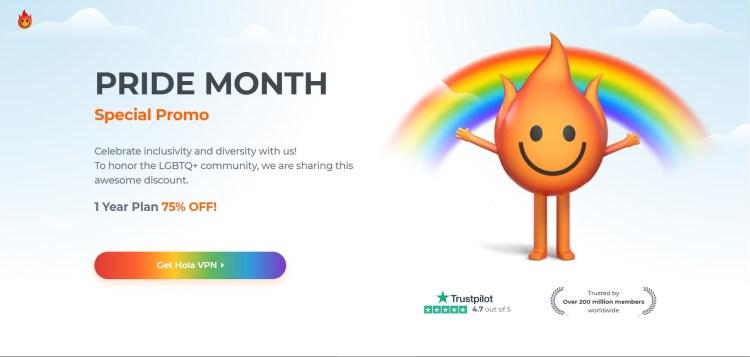 Pride Month - Save 75% on Hola VPN
