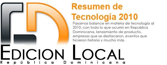 Pasamos balance en materia de tecnología al 2010, con todo lo que ocurrió en Republica Dominicana, lanzamiento de producto, empresas que se destacaron, eventos que hicieron historia y mucho más.
