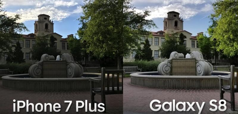 Galaxy S8 Review Low Light comparison iPhone 7 Plus