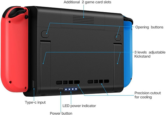 Nintendo Switch Battery Case