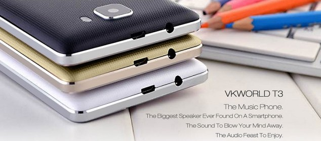 Vkworld T3: Smartphone RAM 2GB Terbaik Sedunia dengan Speaker Jumbo w3