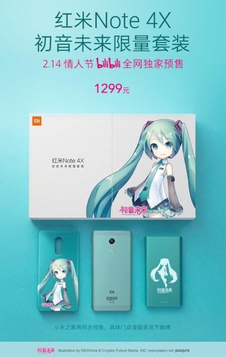 Xiaomi Redmi Note 4X versi Hatsune Miku: Harga dan Spesifikasi 3