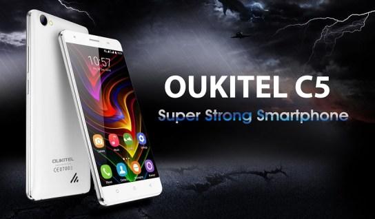 Oukitel C5 dengan RAM 2GB dan Konektivitas 3G Dirilis: Harga Murah 1