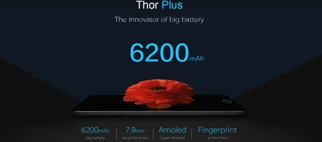 Vernee Thor Plus dengan Batere 6200 mAh: Tertipis dan Teringan 1