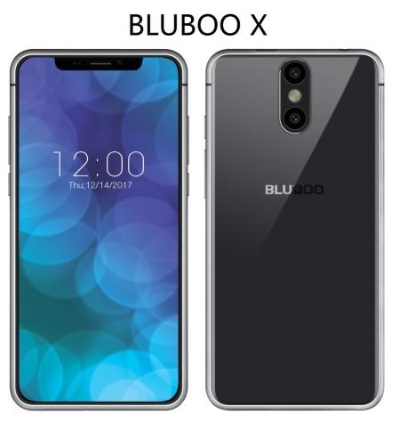 Klonengan iPhone X dari Bluboo: ya Bluboo X 1