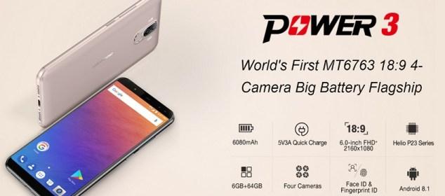 Ulefone Power 3: Flagship RAM 6GB, 4 Kamera, Face ID, Baterai Besar 5