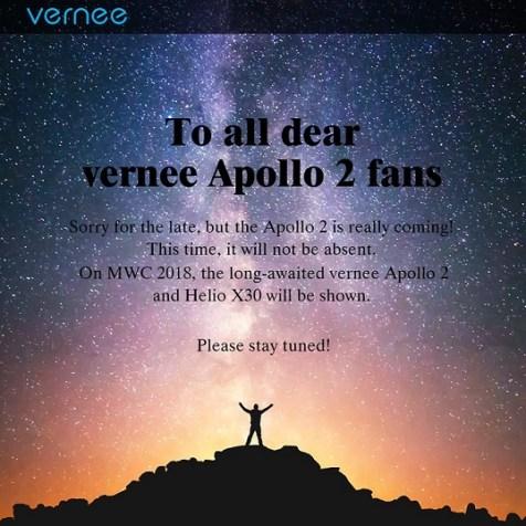 Setahun cuma PHP: Vernee Apollo 2 dengan Helio X30 siap di MWC 2018 d