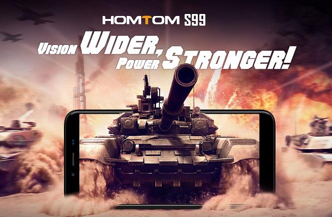 Homtom S99 dirilis: Phablet RAM 4GB, Baterai 6200 mAh, Kamera 16MP