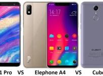 Umidigi A1 Pro VS Elephone A4 VS Cubot Nova: Trio RAM 3GB Harga 1,4 juta b
