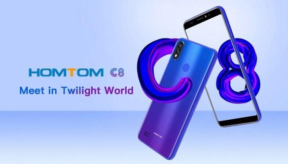 Homtom C8 dirilis: Smartphone 4G Termurah dengan Warna Gradien 8