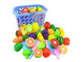 Obst und Gemüse im Einkaufskorb